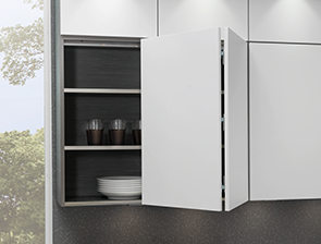 Sistemas de apertura para muebles altos por cu l - Puertas plegables para cocina ...