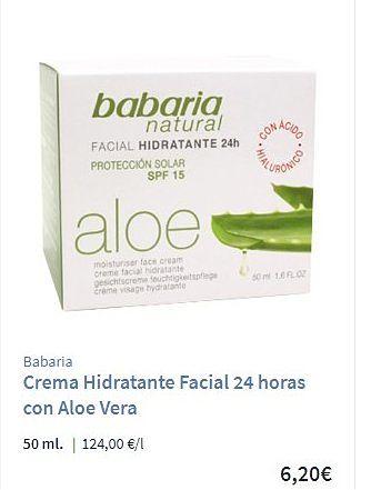 Crema Babaria Natural Aloe Vera