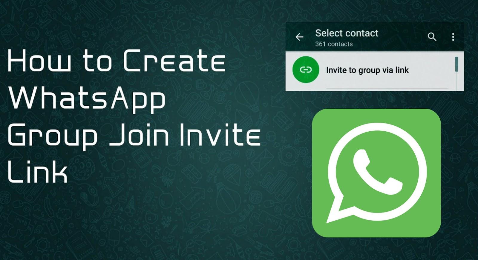 mengundang teman masuk ke grup WhatsApp via invite link