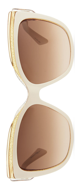 Dior  Colorblock Cat-Eye Sunglasses Ivory/Orange/Pink