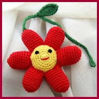 Flor para el chupete amigurumi