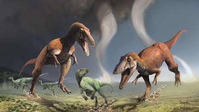 Dinossauro assustador tinha braços pequenos assim como o tiranossauro