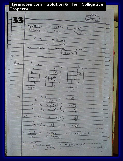 Solution and Their Colligative Property Notes IITJEE1