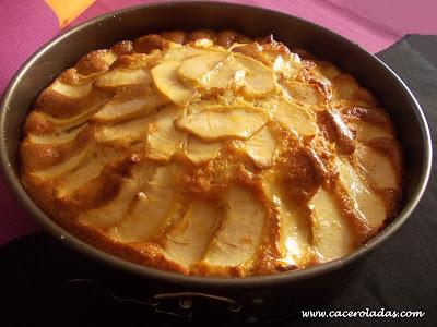 bizcocho de manzana sencillo