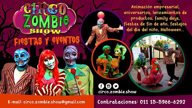 circo zombie show halloween