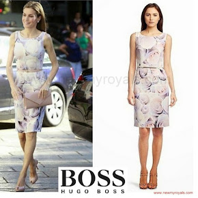 Queen Letizia wore Hugo Boss floral dress