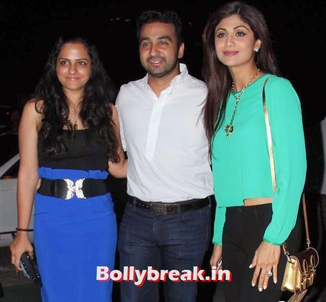 Raj Kundra and Shilpa Shetty, Bipasha Basu, Shilpa Shetty at Yauatcha Restaurant