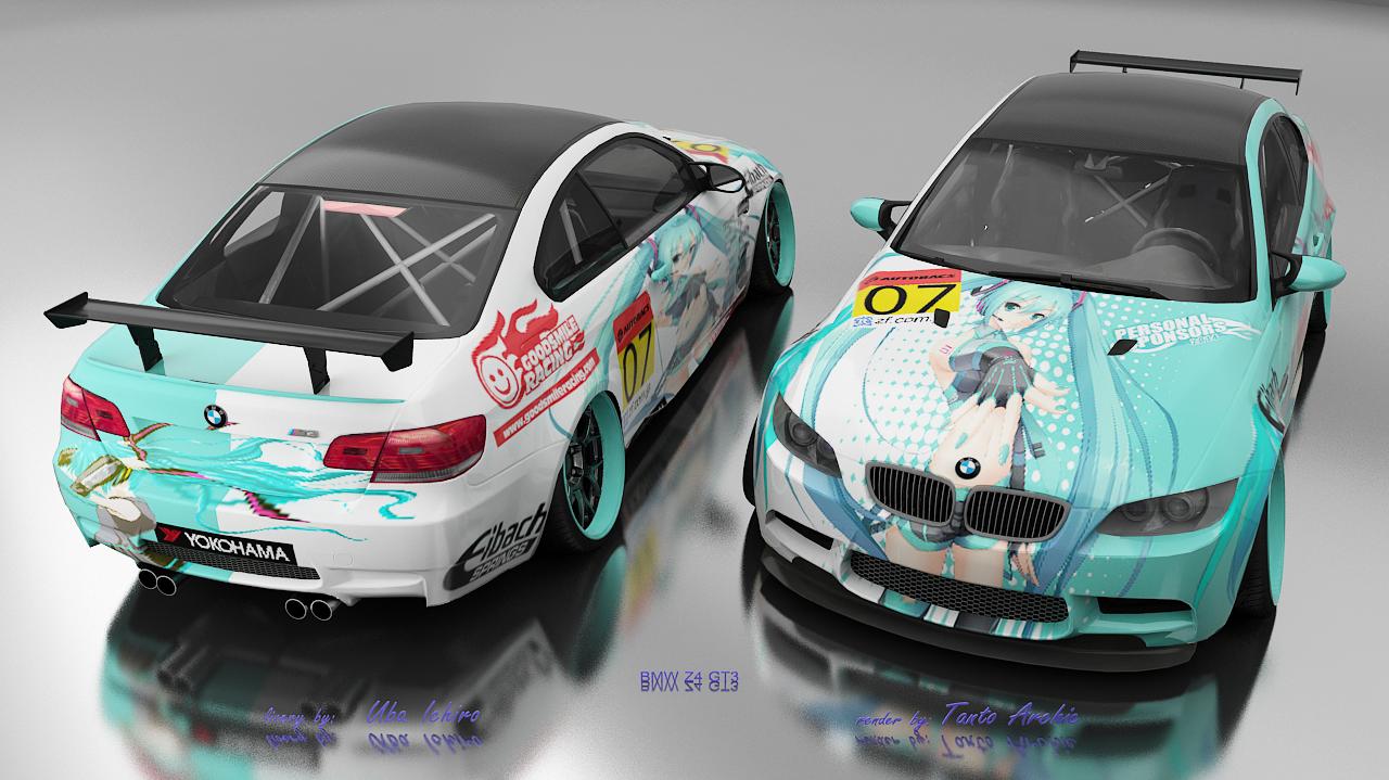 Skin real racing 3 miku bmw m3 gts by uba ichiro