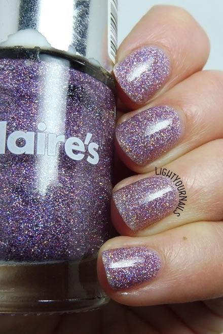 Smalto rosa glitter olografico Claire's Magical Unicorn pink holographic glitter nail polish #claires #holographic #glitters #nails #unghie #pantone #pantonepinklavender