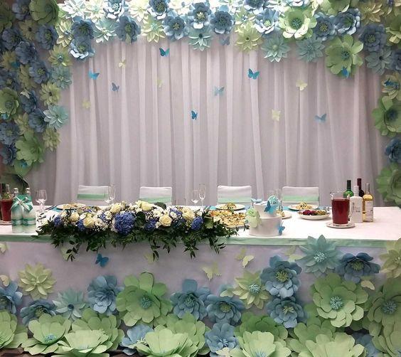 Papierowe dekoracje na wesele, kwiaty z papieru, Dekoracje ślubne DIY, Inspiracje Ślubne, jak zorganizować ślub DIY, Pomysły na ślub i wesele DIY, Ślub DIY, Ślub i wesele z pomysłem, Trendy Ślubne 2017