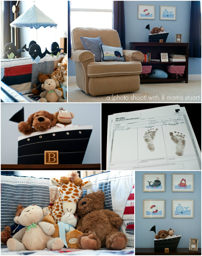 Nautical Baby Boy Room: A {day} With Lil Mama Stuart: Introducing {Baby Blake}