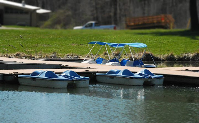 Paddle boats at @GSNEO Camp Timberlane