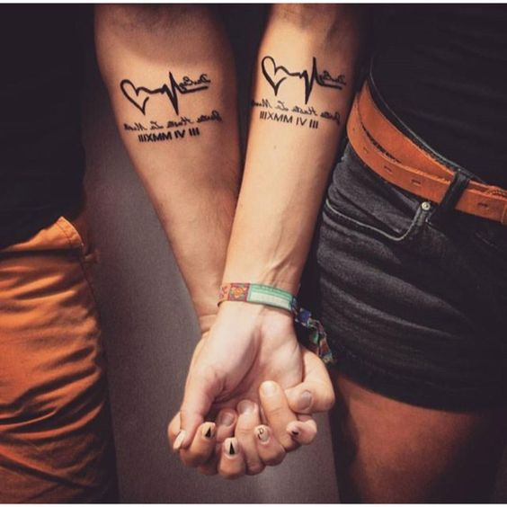 couple-tattoos-5 15 Sweetest Couple Tattoos Designs tattoo
