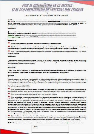 Impreso de solicitud