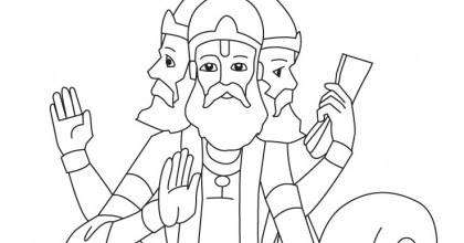 lord brahma coloring pages - photo#8