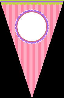 Para banderines de Divertida Mariposa.