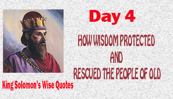how wisdom rescued people of old