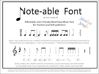 Note-able Font