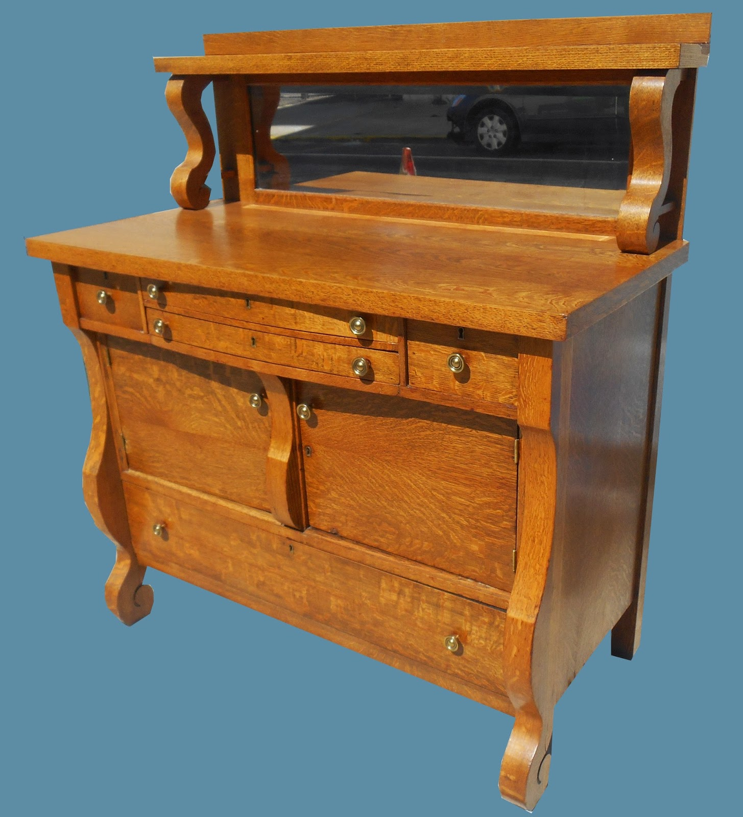 Uhuru Furniture Amp Collectibles Antique Tiger Oak Buffet