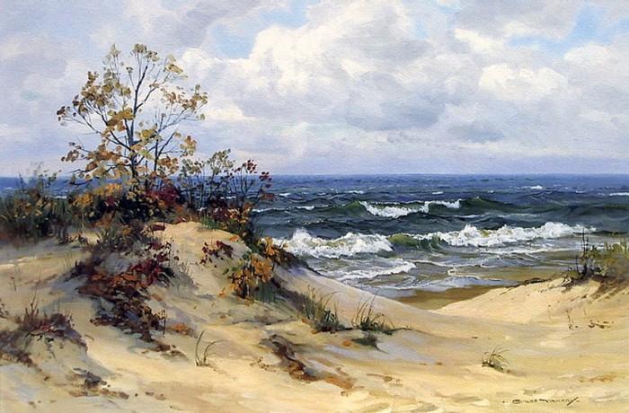 Charles Vickery ~ Pintor de paisagens marinhas