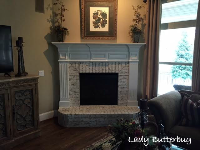 annie sloan chalk paint painted fireplace brick surround lady rh ladybutterbug blogspot com updating fireplace surround cost to redo fireplace surround