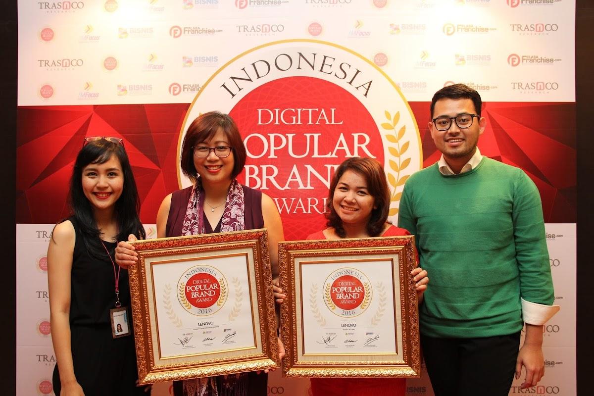 Lenovo Raih Indonesia Digital Popular Brand Award 2016