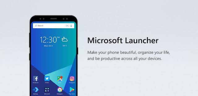 تطبيق Microsoft Launcher Preview للأندرويد