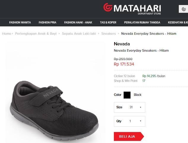 beli sepatu anak laki-laki di mataharimall.com