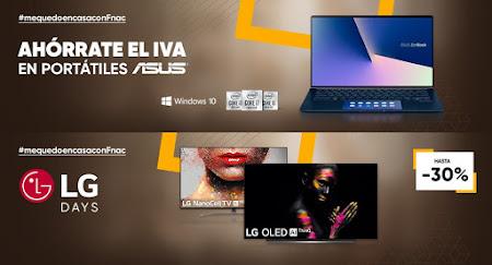 Mejores ofertas promociones en portátiles y TVs de Fnac