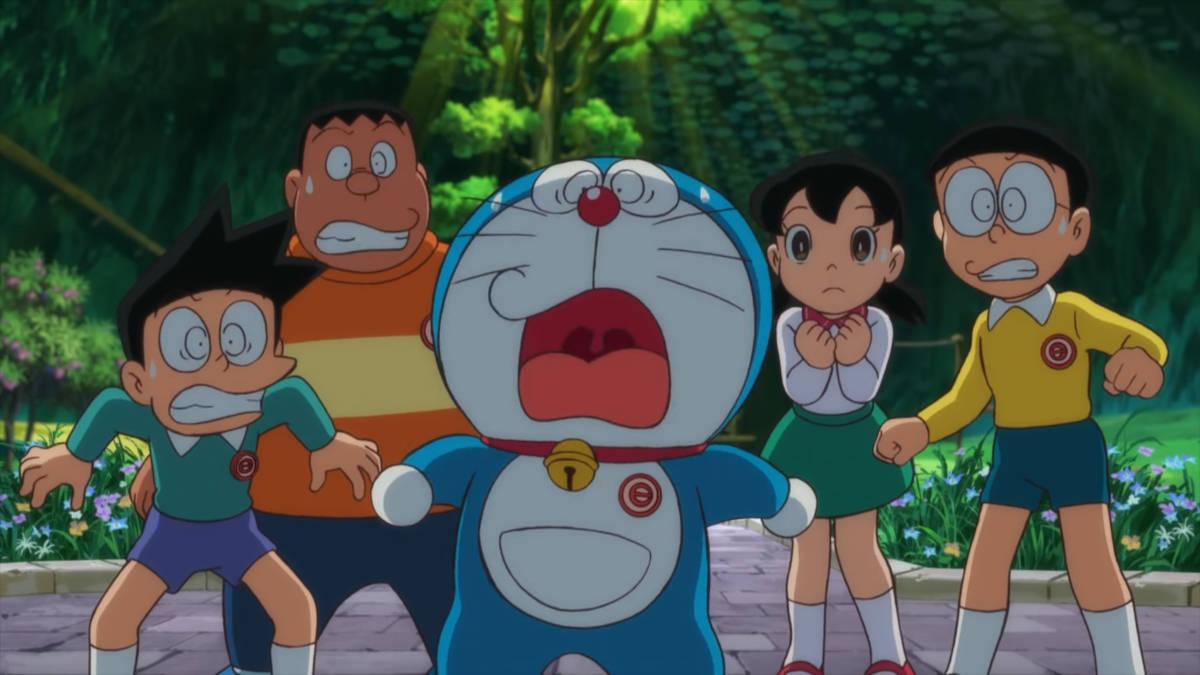 Kadr z filmu Doraemon: Nobita no Getsumen Tansaki