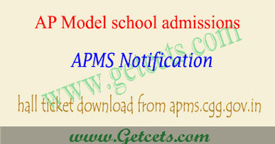 AP model school hall ticket 2020-2021 download, apms result date