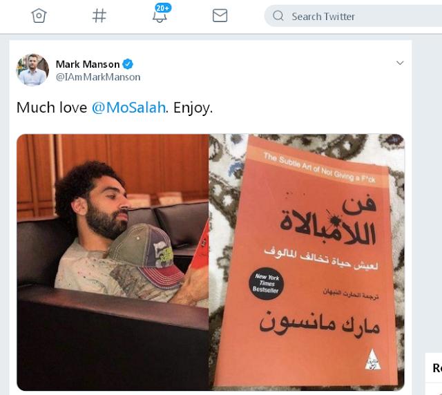 تغريدة مؤلف كتاب فن الامبالات لشكر محمد صلاح