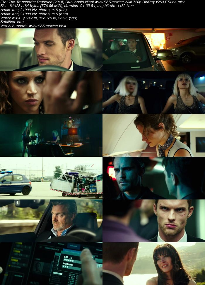 The Transporter Refueled (2015) Dual Audio Hindi 720p BluRay ESubs Movie Download