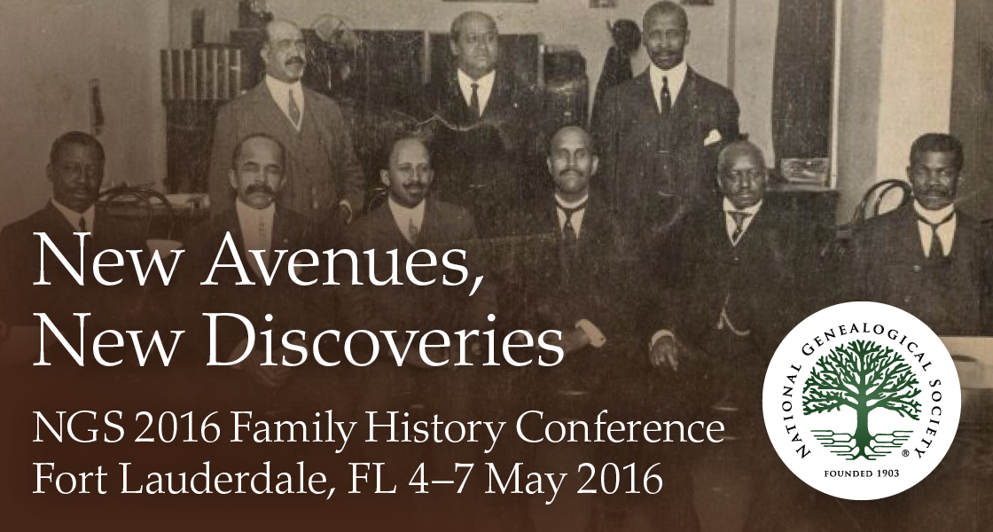 Discover Your African American Ancestors at the NGS Family History Conference