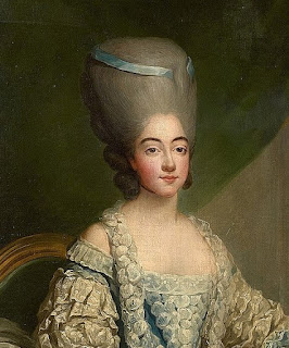 Detail from a portrait of Marie Josephine by the French royal portraitist Jean-Martial Frédou
