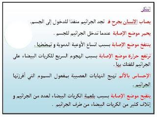 7 - مراحل التعفن لجرثومي الموضعي س6
