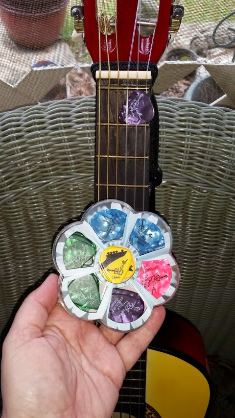 guitar picks with guitar