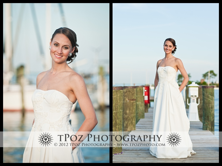 Bride at Annapolis Maritime Museum Wedding