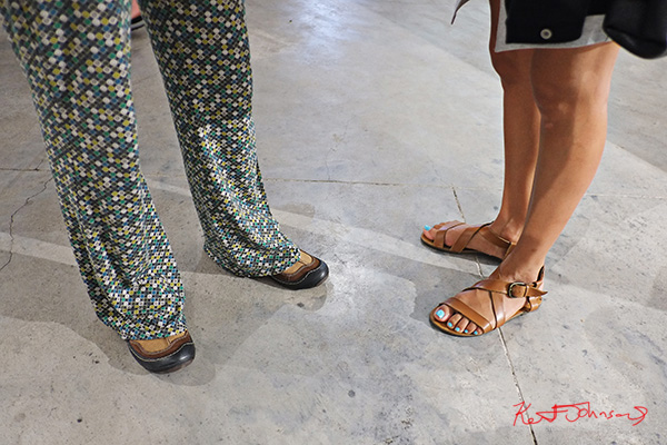 Shoes pants sandals. Street Fashion Sydney, New York Edition photographed by Kent Johnson.