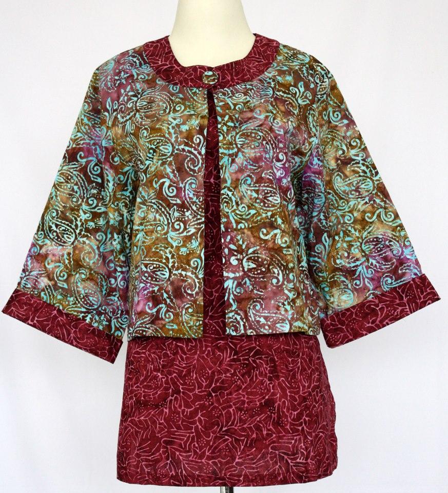 Batik Untuk Pria Remaja: Model Baju Batik Kantor Terbaru Wanita Kombinasi Atas
