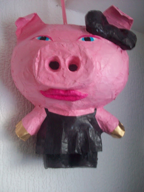 Custom Pinatas Piata Lady Mz Piggy And