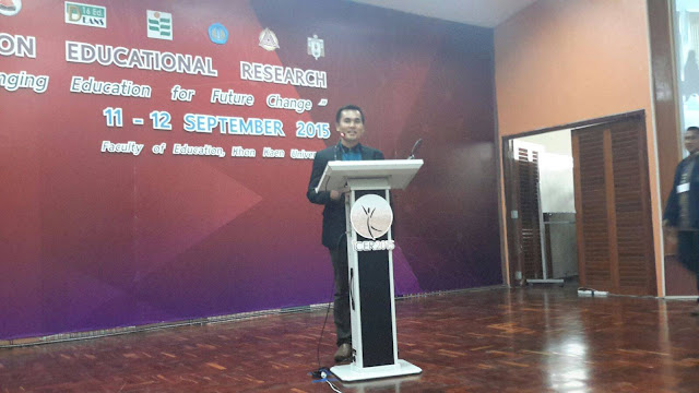 Internasional Conference Educational Research (ICER)  @Dokumentasi#presentasi oral Conference Proceeding International  di KKU Thailand
