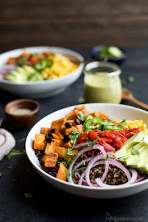 black bean buddha bowl