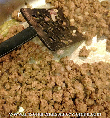 Ground Beef for Tacos with Tangelo Adobo Sauce