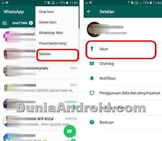 Setelan privasi di WhatsApp