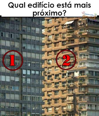 Ilusão de ótica: Qual edifício está mais próximo?