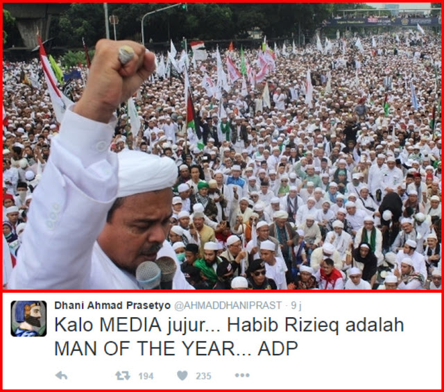 Ahmad Dhani: Kalau Media Jujur, Habib Rizieq Adalah MAN OF THE YEAR!