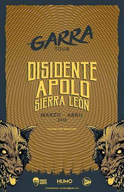 Garra Tour con Apolo, Disidente y Sierra León
