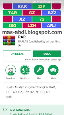 Download aplikasi RAR di Play Store