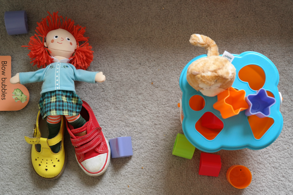 This Little Big Life: Doll wearing toddler shoes